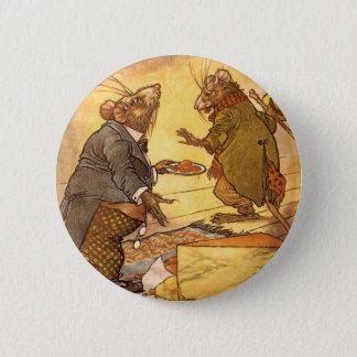 Badge Rond 5 Cm La fable d'Ésope vintage, souris de pays, souris