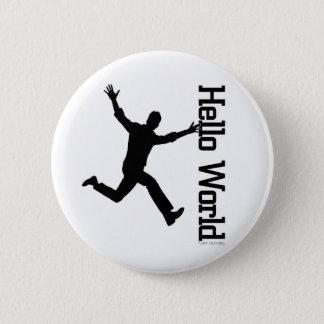 Badge Rond 5 Cm La figure humaine volante profilent graphique