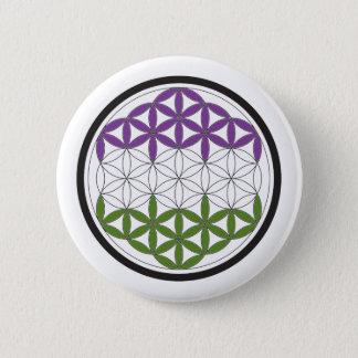 Badge Rond 5 Cm la géométrie sacrée de genderQueer