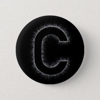 Badge Rond 5 Cm La lettre C