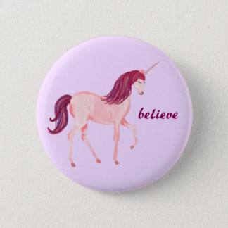 Badge Rond 5 Cm La licorne croient