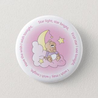 Badge Rond 5 Cm La lumière d'étoile, tiennent le premier rôle le