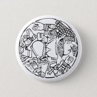 Badge Rond 5 Cm La lune - bouton stupéfiant du Mexique