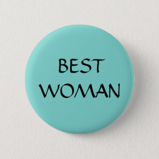 Badge Rond 5 Cm La MEILLEURE FEMME - bouton - épouser le bleu