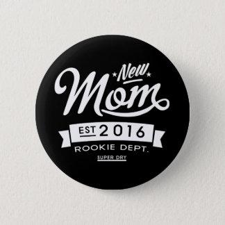 Badge Rond 5 Cm La meilleure nouvelle maman foncée 2016