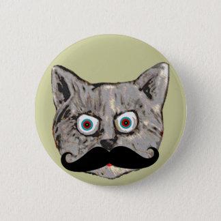 Badge Rond 5 Cm la moustache du chat