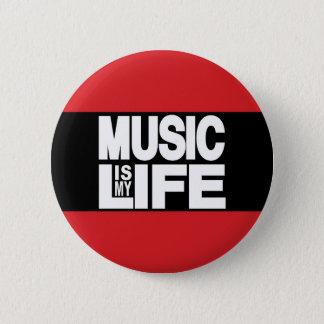 Badge Rond 5 Cm La musique est mon rouge de la vie