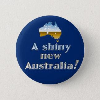 Badge Rond 5 Cm La nouvelle Australie brillante