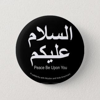 Badge Rond 5 Cm La paix soit sur vous bouton musulman de