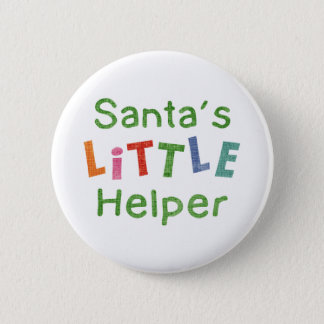 Badge Rond 5 Cm La petite aide de Père Noël