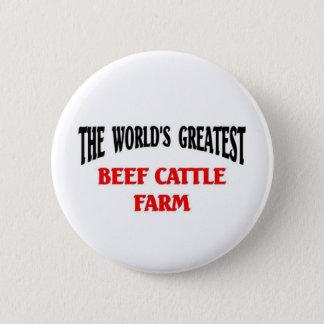 Badge Rond 5 Cm La plus grande ferme de cheptels bovins
