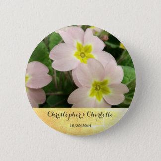 Badge Rond 5 Cm La primevère rose-clair fleurit le mariage fait