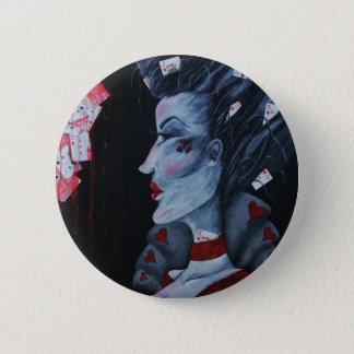 Badge Rond 5 Cm La Reine rouge de l'art d'imaginaire du pays des