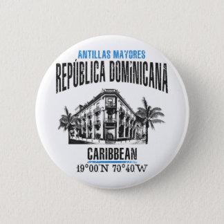 Badge Rond 5 Cm La République Dominicaine