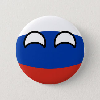 Badge Rond 5 Cm La Russie Geeky tendante drôle Countryball