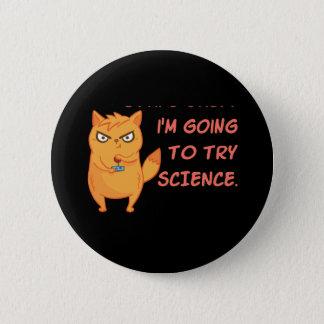 Badge Rond 5 Cm La Science drôle de robot de scientifique