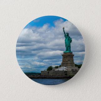 Badge Rond 5 Cm La statue de la liberté