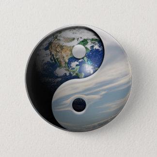 Badge Rond 5 Cm La terre et ciel Yin Yang