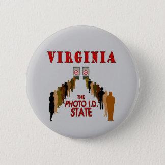 Badge Rond 5 Cm LA VIRGINIE : L'identification de photo. État