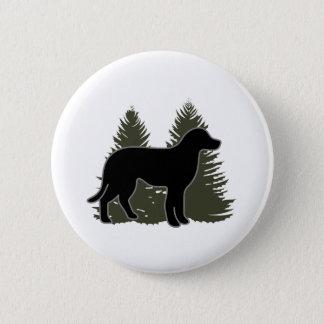 Badge Rond 5 Cm Labrador et arbres