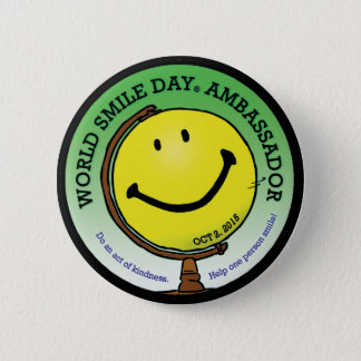 Badge Rond 5 Cm L'Ambassadeur 2015 de Day® de sourire du monde