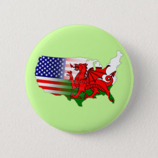 Badge Rond 5 Cm L'Américain Gallois marque la carte