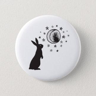 Badge Rond 5 Cm Lapin de lune - bouton