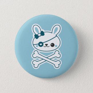 Badge Rond 5 Cm Lapin mignon de pirate