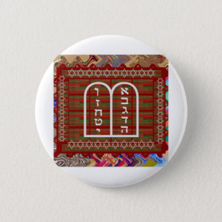 Badge Rond 5 Cm L'art rituel spirituel religieux juif effectue le