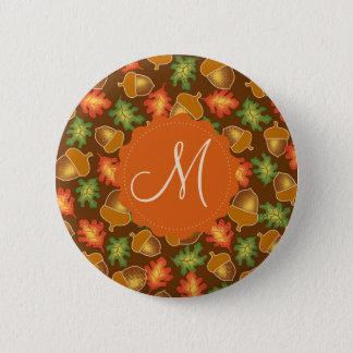 Badge Rond 5 Cm L'atmosphère brillante d'automne avec des glands