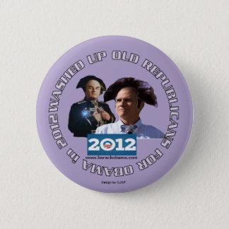 Badge Rond 5 Cm Lavé vers le haut de vieux républicains pour la