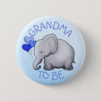 Badge Rond 5 Cm Le baby shower mignon d'éléphant de ballons