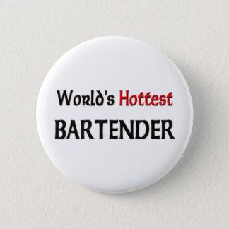 Badge Rond 5 Cm Le barman le plus chaud des mondes