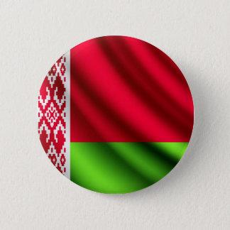 Badge Rond 5 Cm Le Belarus ondulant le bouton de pinback de