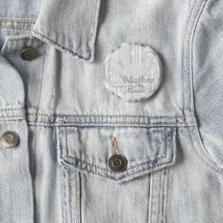 Badge Rond 5 Cm Le blanc a plongé avec des anneaux de mariage