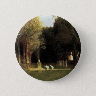 Badge Rond 5 Cm Le bois sacré par Arnold Bocklin, art vintage
