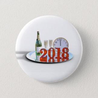 Badge Rond 5 Cm Le bouton de la bonne année 2018