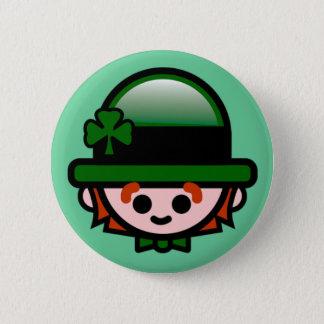 Badge Rond 5 Cm Le bouton de St Patrick heureux