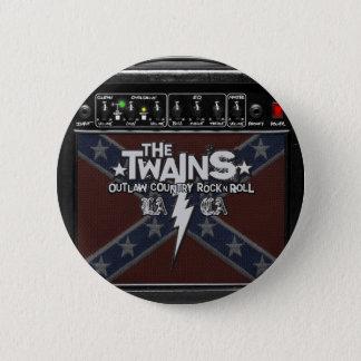 Badge Rond 5 Cm Le bouton de TWAINS Dixie ampère !