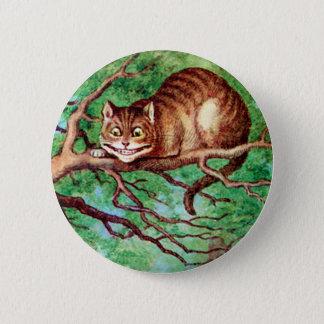 BADGE ROND 5 CM LE CAT DE CHESHIRE