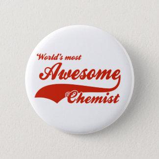 Badge Rond 5 Cm Le chimiste le plus impressionnant du monde