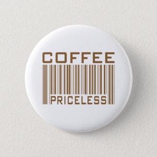 Badge Rond 5 Cm Le code barres inestimable de café pique des