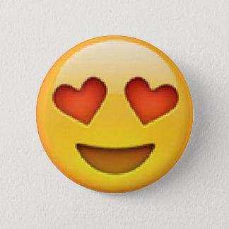 Badge Rond 5 Cm Le coeur observe le bouton d'Emoji
