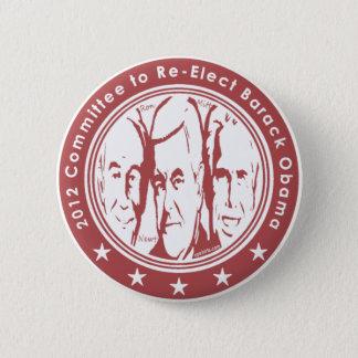 Badge Rond 5 Cm Le Comité 2012 au Re élisent Barack Obama