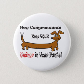 Badge Rond 5 Cm Le Congressmans Weiner