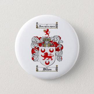BADGE ROND 5 CM LE CREST DE FAMILLE DE DILLON - MANTEAU DE DILLON