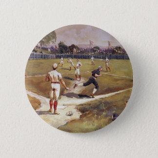 Badge Rond 5 Cm Le cru folâtre le jeu de baseball par Henry