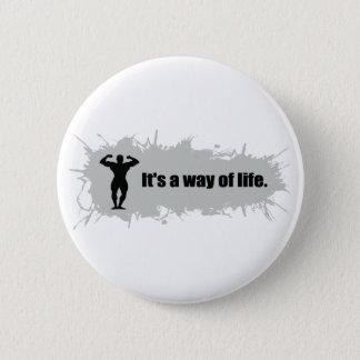 Badge Rond 5 Cm Le culturisme est un mode de vie
