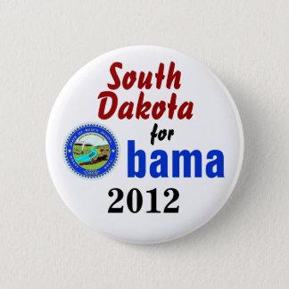 Badge Rond 5 Cm Le Dakota du Sud pour Obama 2012