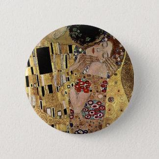 Badge Rond 5 Cm Le détail de baiser de Gustav Klimt (circa 1908)